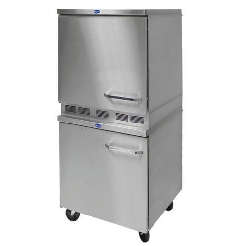 frigorífico combi profesional / armario / de acero inoxidable / con congelador en la parte inferior