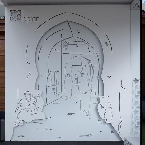 Panel decorativo de aluminio / para revestimiento interior / de pared / para exteriores BPLAN