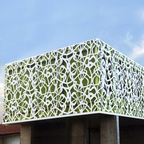 Revestimiento de fachada de metal / mate / termolacado / perforado BPLAN