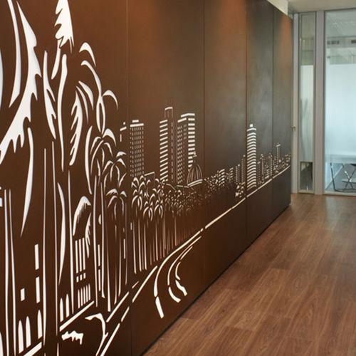 panel decorativo de metal / de pared / para interiores / con retroiluminación