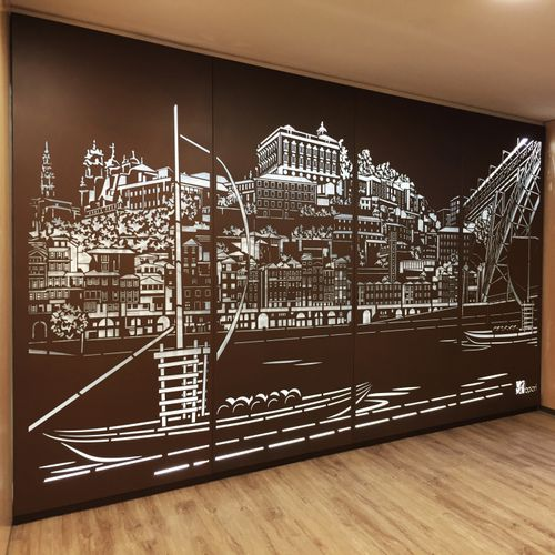 panel decorativo de metal / de pared / para interiores / de pared