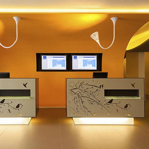panel decorativo de metal / para interiores / texturado