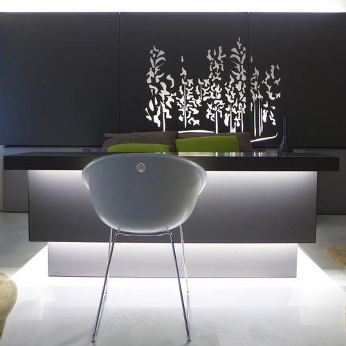 Cabecero para cama doble / de diseño original / de metal / con luz integrada BPLAN