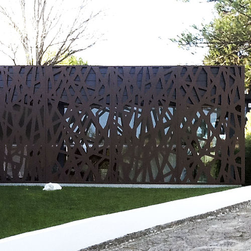 Revestimiento de fachada de metal / termolacado / texturado / ondulado BPLAN
