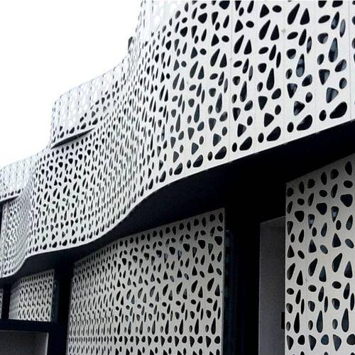 revestimiento de fachada de metal - BPLAN