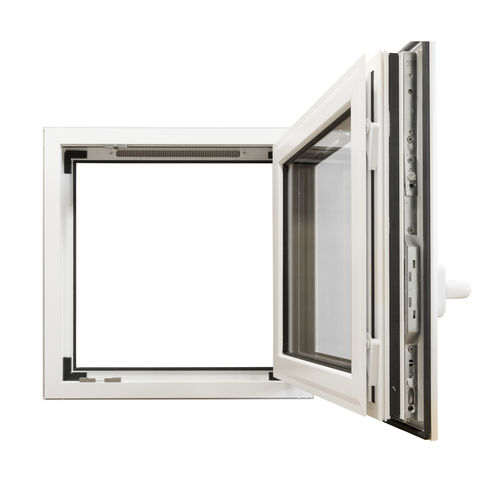ventana abatible / oscilobatiente / de aluminio / con vidrio doble