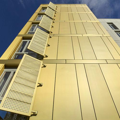 Revestimiento de fachada de zinc / ranurado / de panel ASTURIANA DE LAMINADOS
