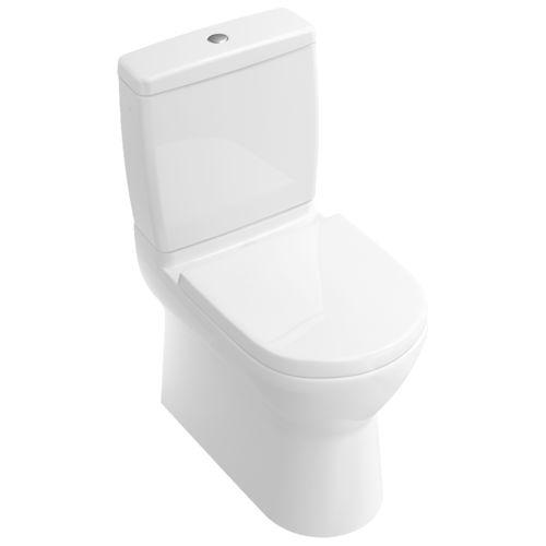 WC de pie / monobloque / de porcelana / con accionador de cisterna O.NOVO 565810 Villeroy & Boch
