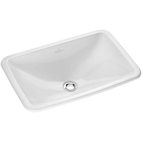Lavabo encastrable / rectangular / de porcelana / moderno LOOP & FRIEND: 614500 Villeroy & Boch