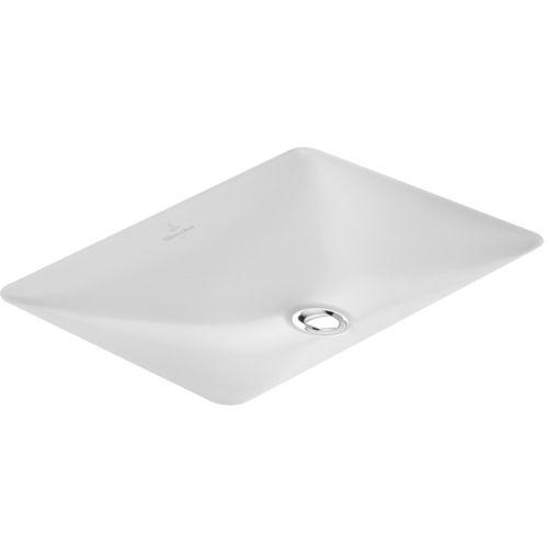 lavabo bajo encimera / rectangular / de porcelana / moderno