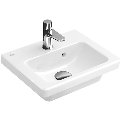 Lavabo suspendido / rectangular / de porcelana / moderno SUBWAY 2.0: 731737   Villeroy & Boch
