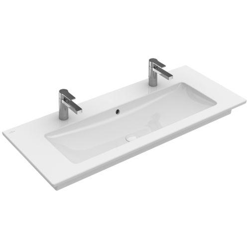 Lavabo doble / suspendido / rectangular / de porcelana VENTICELLO:  4104CK Villeroy & Boch