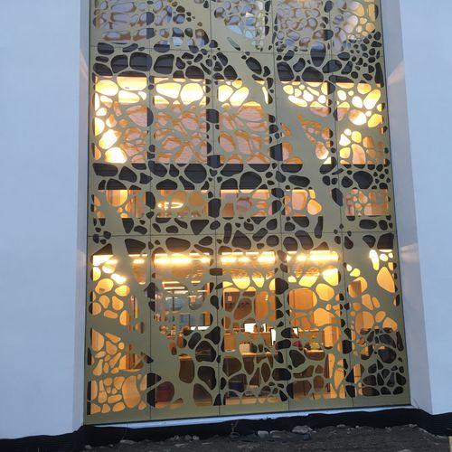 panel decorativo de HPL / para exteriores / de pared / perforado