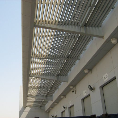 Celosía con lamas de aluminio / para fachada / horizontal / vertical Q-SL125 AFS International B.V.