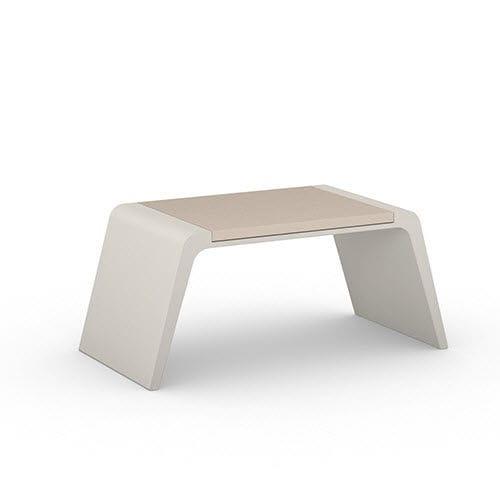 taburete moderno / de hormigón / para espacio público / de exterior