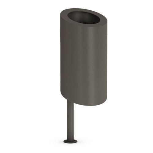 cubo de basura público / de chapa de acero / moderno