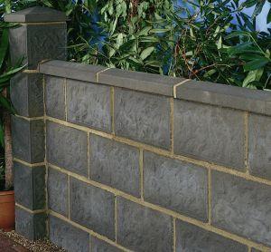 bloque de hormign macizo para muro rockface thakeham