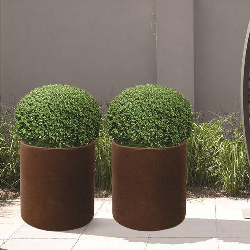 jardinera de acero COR-TEN® / redonda / moderna / para espacio público