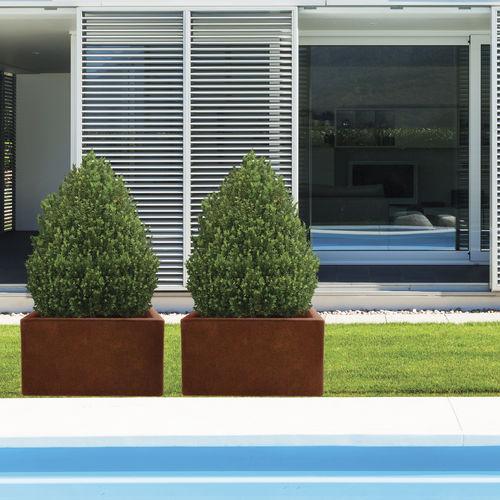 jardinera de acero COR-TEN® / de fibra de vidrio / rectangular / moderna
