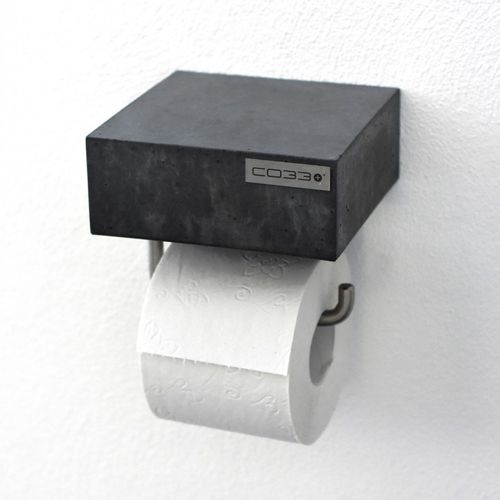 dispensador de papel higiénico de pared / de acero / de hormigón