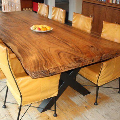 Mesa de comedor moderna / de madera maciza / rectangular - SUAR ...