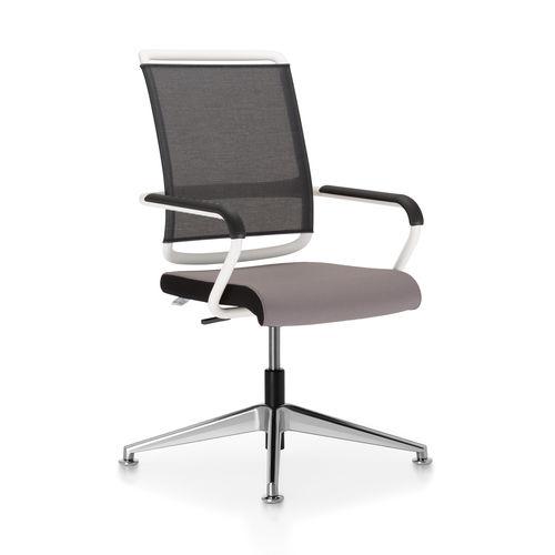 silla de conferencia moderna / giratoria / apilable / cantilever
