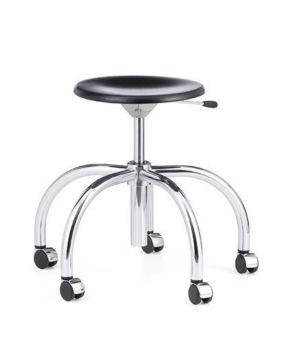 taburete de diseño Bauhaus / de haya / de metal / contract