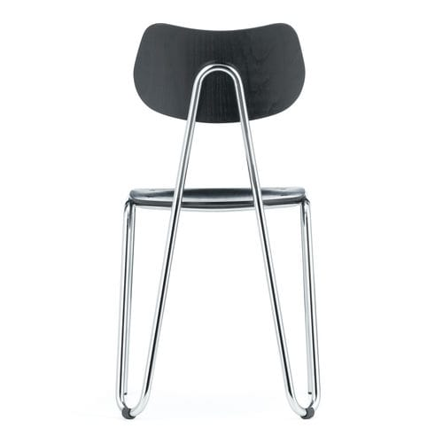 silla de restaurante moderna / tapizada / apilable / de tejido