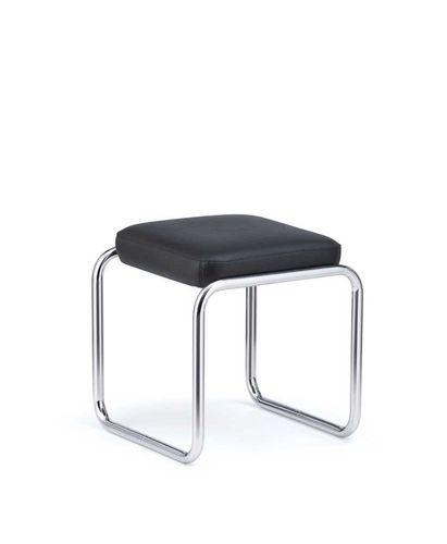 taburete de diseño Bauhaus / de cuero / de acero / profesional