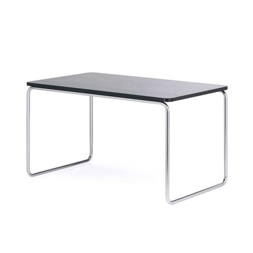 mesa de reuniones de diseño Bauhaus / de haya / de acero / rectangular