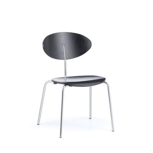 silla de conferencia moderna / tapizada / con reposabrazos / apilable