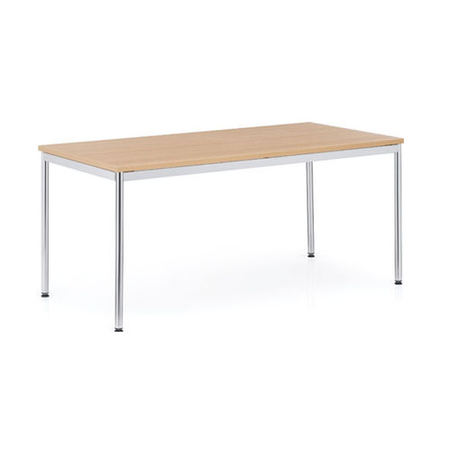 mesa de reuniones moderna / de acero / de media luna / trapezoidal