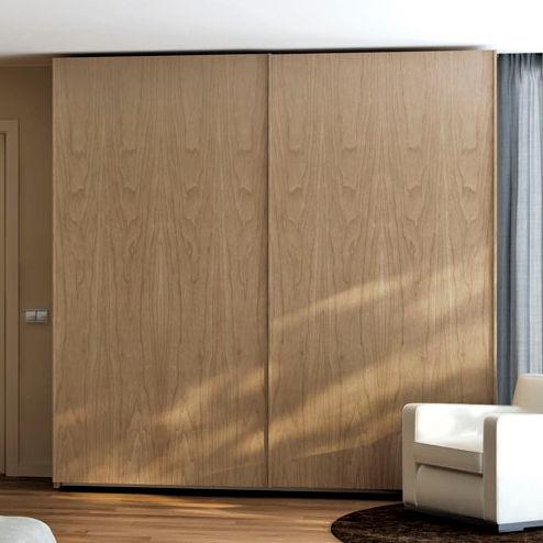 armario moderno / de nogal / con puerta corredera