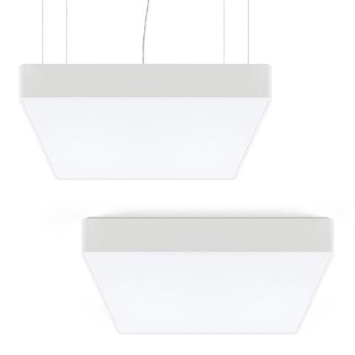 luminaria suspendida / LED / lineal / cuadrada