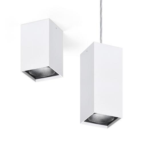 downlight montado en superficie / suspendido / LED / cuadrado
