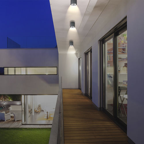 downlight montado en superficie / de exterior / LED / redondo