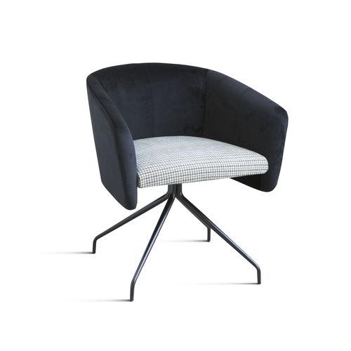 silla de oficina moderna / giratoria / de tejido / de cromo