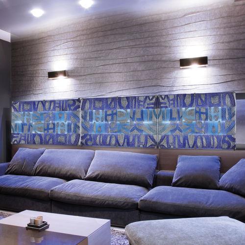 Panel decorativo / de cristal de Murano / de pared / con retroiluminación LETTERE veveglass