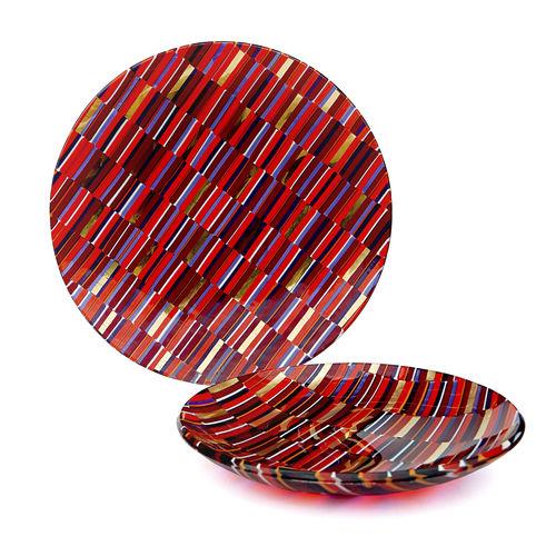 Plato plana / redondo / de cristal de Murano IRIDE veveglass