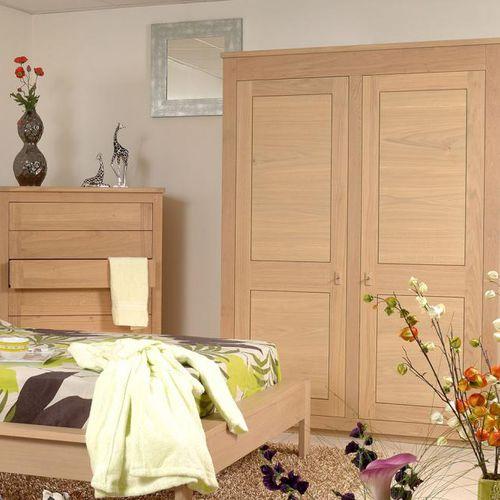 armario moderno / de roble / de madera maciza / de haya
