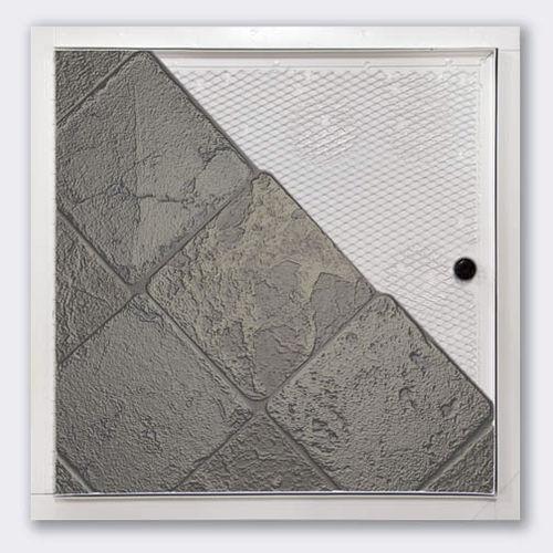 trampilla de inspección para pared / cuadrada / antiincendios / de acero galvanizado
