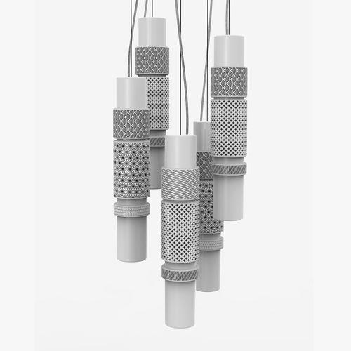 lámpara suspendida / moderna / de cerámica / de interior