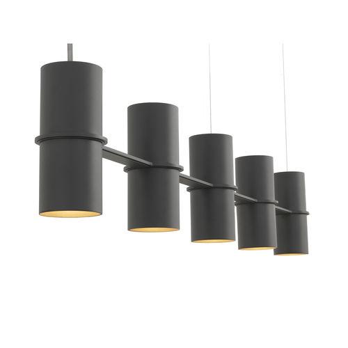 lámpara suspendida / moderna / de acero con revestimiento en polvo / de interior