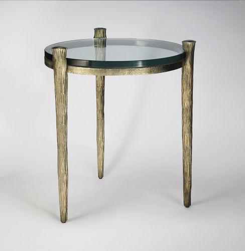 Mesita auxiliar clásica / de vidrio / de hierro / de hierro forjado OFFRANDE  Mobilier De Style