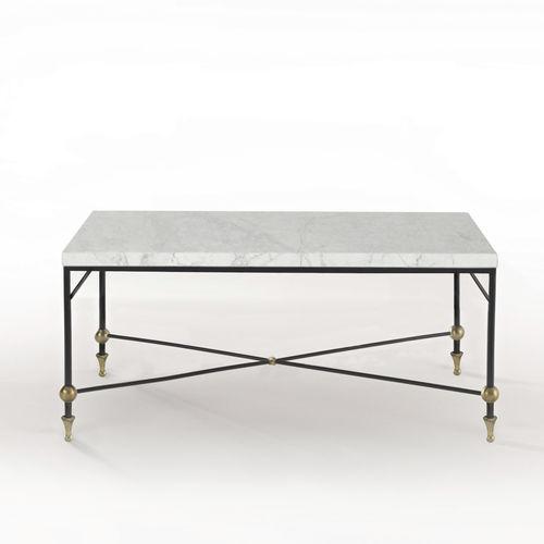 Mesa de centro / clásica / de vidrio / de latón BARON Mobilier De Style