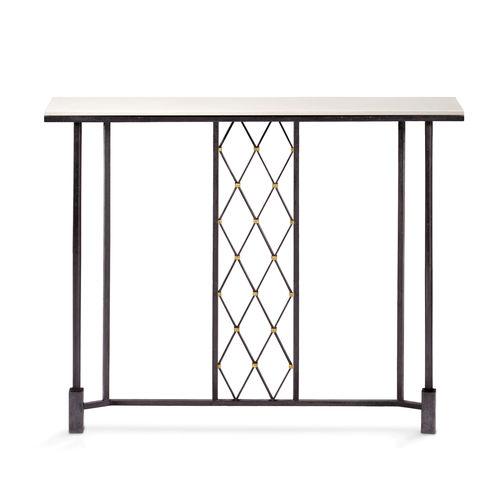 Consola clásica / de vidrio / de hierro / de hierro forjado AUGUST Mobilier De Style