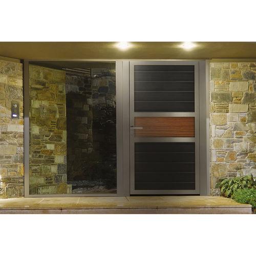 puerta para jardín de aluminio anodizado