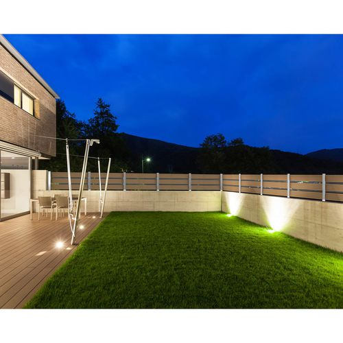 valla de jardín / de láminas / de aluminio