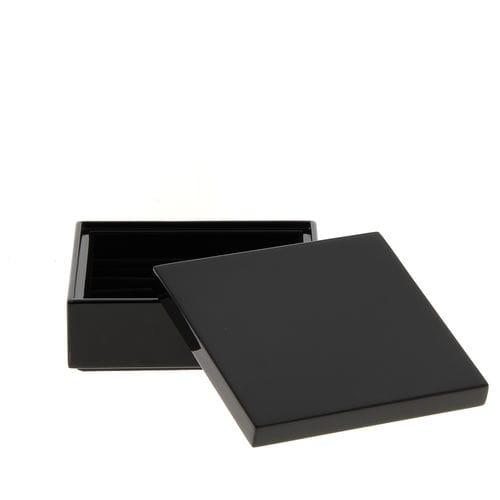 caja de almacenamiento de madera lacada