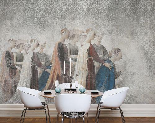 papel pintado moderno / de tela / de vinilo / damasco